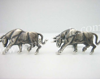 Sterling Silver Taurus Cufflinks