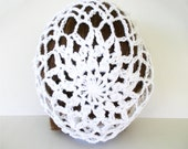 White Crochet Lace Slouch Hat Snood Winter Accessories Spring Summer Fashion Tam