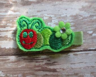 Hungry Caterpillar Felt Clippie - Clippie - Party Favor - Hair Clip