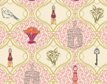 French Sampler Rose (LB-2107) - Lilly Belle - Bari J for Art Gallery Fabrics - By the Yard