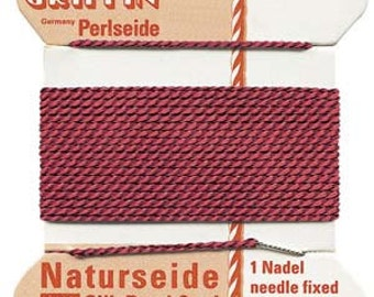 Griffin Natural Silk Cord No.5 Garnet