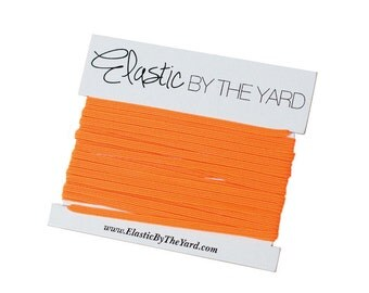 NEON ORANGE Skinny Elastic for Baby Headbands 1/8 inch - 5 yards