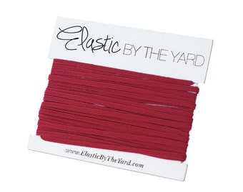 CRANBERRY Skinny Elastic for Baby Headbands 1/8 inch - 5 yards