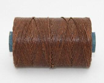 Waxed Irish Linen Thread Walnut Brown 7 Ply Waxed Thread
