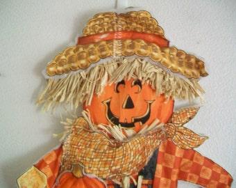 SALE - Halloween Jack-o-Lantern Scarecrow Wall/Door Hanging