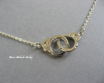 Tiny Handcuff Necklace, 50 Shades of Grey, Delicate, minimal, casual, everyday