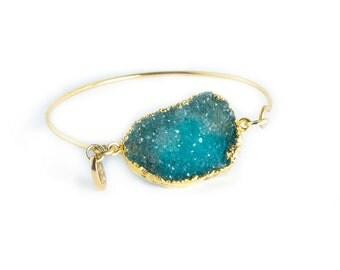 Roxx Bangle - druzy bracelet, druzy bangle, druzy cuff
