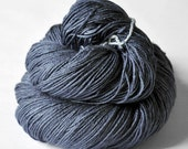 Stormy gray sea  - Merino/Silk Fingering Yarn Superwash