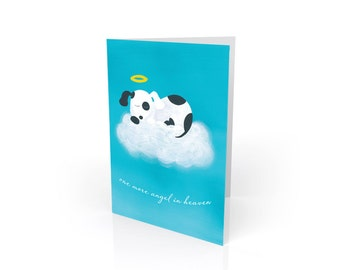 Dog Sympathy Card - Pet Sympathy Card - Dog Angel Sympathy Gift
