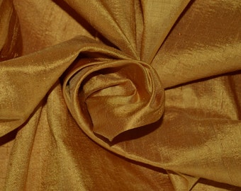 Silk Dupioni in selective yellow,  Fat Quarter - D 212