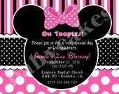 Minnie Mouse Birthday Invitation invite Minnie Birthday invitation invite  minnie mouse birthday party, minnie invite, 2nd birthday