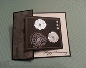 Happy Anniversary Card with Stamped Mums