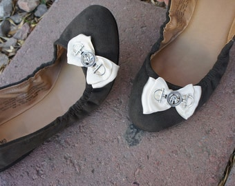 Olivia Paige -Shoe clips Horses  Bows  for flats wedges