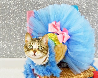Super Fluffy Custom Cat Or Dog tutu choose your colors SEWN XXS to XXL