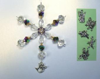 Fantasy snowflake ornament / suncatcher / light catcher