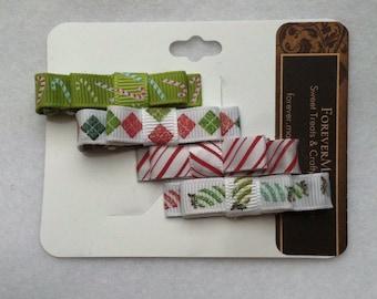 Holiday hair clips