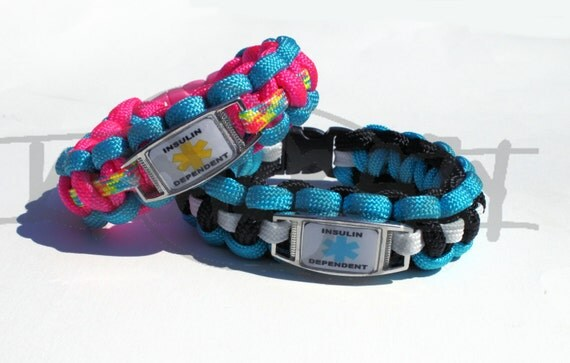 Insulin Dependent Medical Alert Id Alloy Charm On 550 Paracord