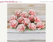 EVERYTHING ON SALE Prima Flowers - Fabric Encore Mixed Media Delicate Flowers 1 inch - 12 pieces Pink