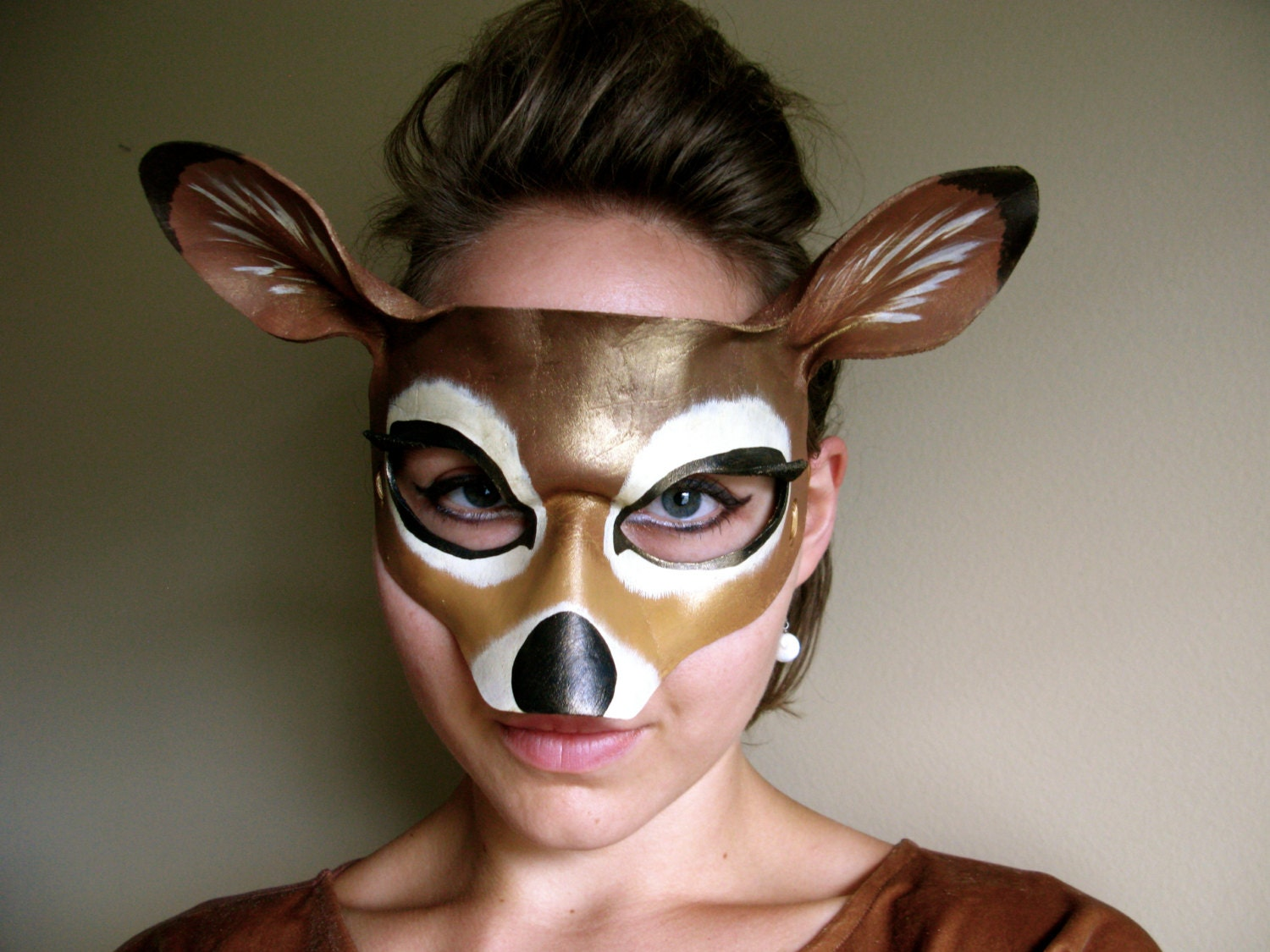 Doe Leather Mask Adult or Child Sizes Deer His and Hers