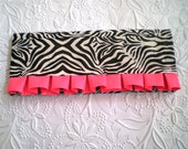 RUFFLED ZEBRA CLUTCH Duct Tape Wallet with Pink Birthday Gift Bridesmaids