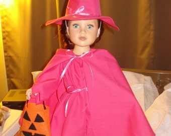 Good witch 4 piece costume in pretty pink for 18 inch Dolls - ag198