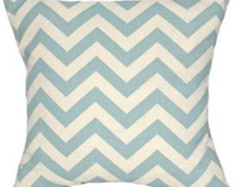 Pillow Covers Cushions 12x16 or select your size ln blue zig zag