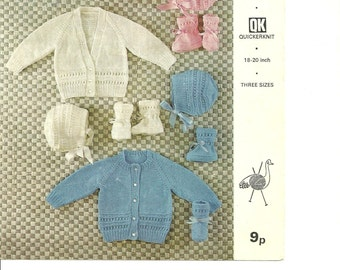 Knitting pattern Emu 8468 full set 18 to 20  inch.