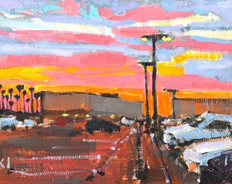 Sunset in San Diego Painting