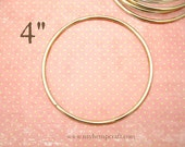 "Craft Ring, 4"" Dream Catcher Metal Hoop Ring, Brass"