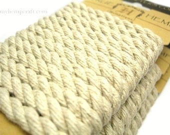 Natural Hemp Rope, 6mm Thick Twisted Eco Friendly Rope Cord