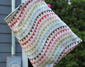Hanging Organization or Clothespin Bag - Lined Flags Fabric by Pink Tag