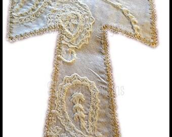 Vintage Cross Applique Machine Embroidery Design
