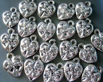 9Pieces Alloy Metal Love Heart Shape Pendant Connector Beads Jewelry Finding--9Pcs--11mm x 10mm  ja151