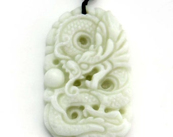 Talisman Natural Pendant Super Powerful Dragon Amulet Pendant 45mm x 28mm  TH215