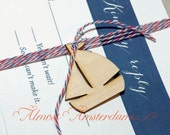 Wooden Sailboat Charms for Nautical Invitations and Paper Crafts. Please select your quantity.