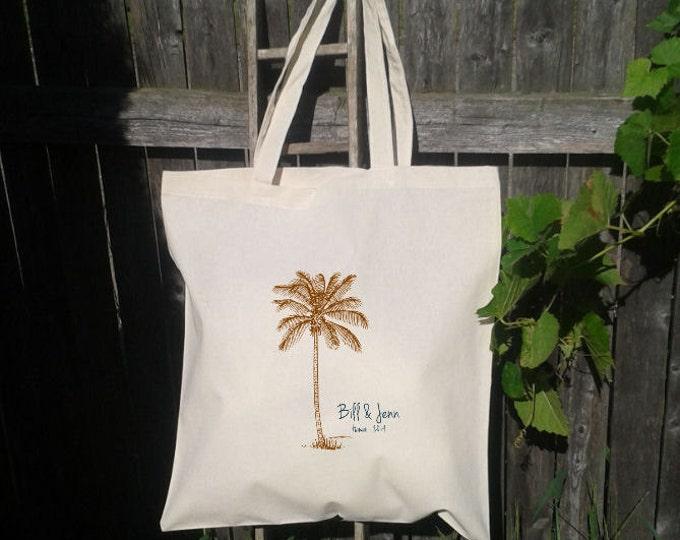 Palm Tree Destination Wedding - Wedding Welcome Tote Bag