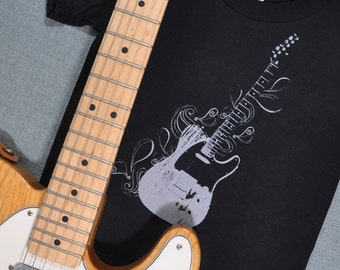 Tele-swirl Guitar Organic Cotton T-Shirt (2T)