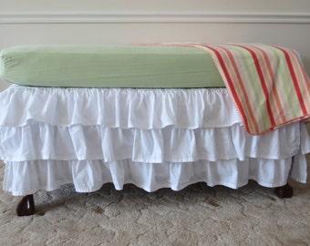 Ruffled Crib Skirt - Custom Made