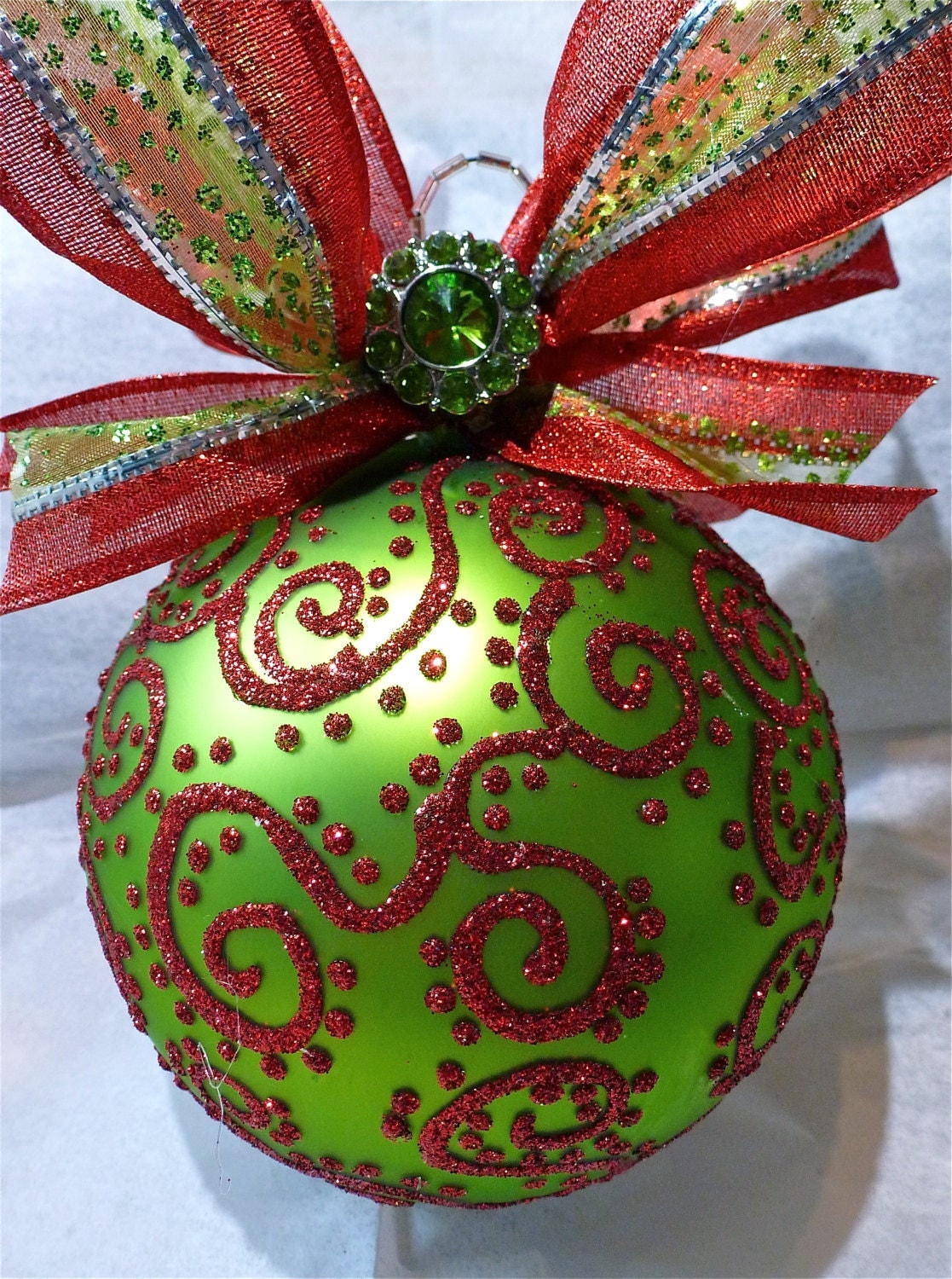 Glitter glass ornament