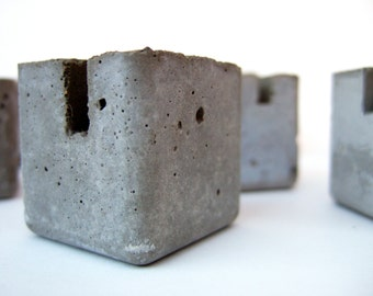 concrete blocks. table marker stands. 15 blocks.