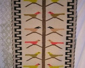 Beautiful Old Vintage Navajo Rug-  tree of Life- bird tree-
