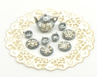 1:48 Snowflake Tea Set
