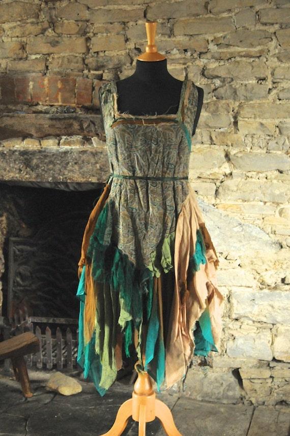 Autumn woodland fairy dress fall fairy costume goddess mori for Woodland fairy wedding dress