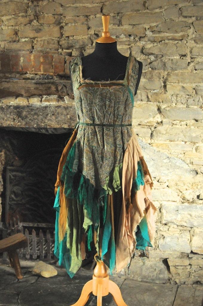 Autumn Woodland Fairy Dress Fall Fairy Costume Goddess Mori