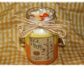 CANDY CORN Scented Fall Halloween Canning Jar Candle- Highly Scented