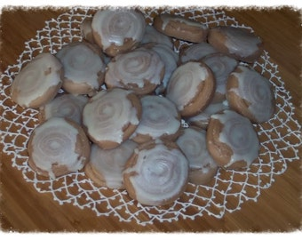 Primitive Iced BUTTERY CINNAMON BUN Roll Tarts Melts Bowl Fillers -Best Seller