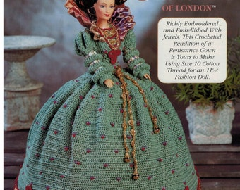 Barbie Crochet Costume Gown Renaissance Catherine of London Embellished