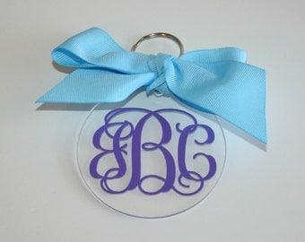 Monogrammed Acrylic Key Chain  Customized