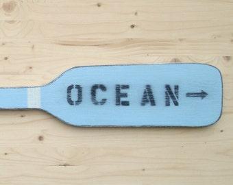 OCEAN wood boat oar paddle