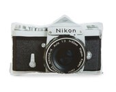 Vintage Nikon F Camera Printed Pillow